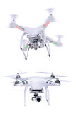 Set of images white little drone Stock Images