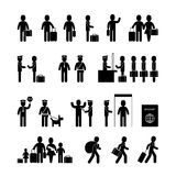 Set of immigrant icons Stock Images
