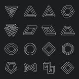Set of impossible shapes. Optical Illusion Stock Images