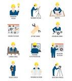 Set inżynier ikony Zdjęcia Stock