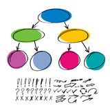 Set include markers elements Royalty Free Stock Photo