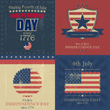 Set of independence day  background Royalty Free Stock Photography