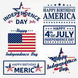 Set of Independence day greeting cards, flyers. Independence day posters. Patriotic banner for website template. Usable for 4th of July greeting card, banner Stock Photography