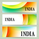 Set of indian banners Royalty Free Stock Photo