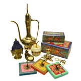 Set with Indian cultural objects Stock Photo