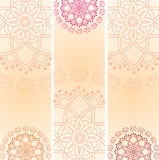Set of Indian elephant mandala vertical banners with space for text Royalty Free Stock Photography