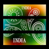 Set of indian headers Stock Photography