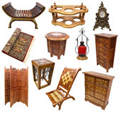 Set with Indian interior objects Royalty Free Stock Photos