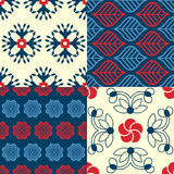 Set of Indian seamless patterns Stock Photography