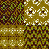 Set of Indian seamless patterns Royalty Free Stock Images