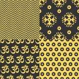 Set of Indian seamless patterns Stock Image