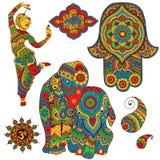 Set of Indian symbols Royalty Free Stock Images