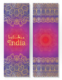 Set of Indian traditional mandala ornament illustration concept. Royalty Free Stock Photography