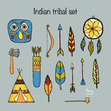 Set of indian tribal elements Royalty Free Stock Images