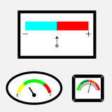 Set of indicators with colored spectral indicator Stock Image