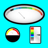 Set of indicators with colored spectral indicator Stock Photos