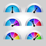 Set of indicators diagram Royalty Free Stock Image