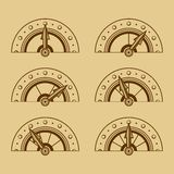 Set of Indicators in Retro Style. Vector Stock Image