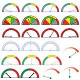 Set of indicators Stock Photos