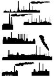 Set of industrial buildings Royalty Free Stock Image