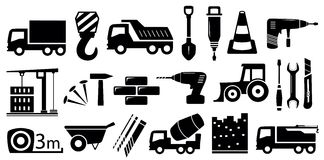 Set industrial construction objects Stock Images