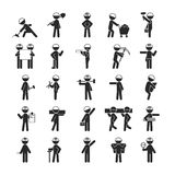 Set of Industrial contractors workers people , Human pictogram I Stock Photography