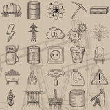 Set of industrial and ecology icons. Royalty Free Stock Photography