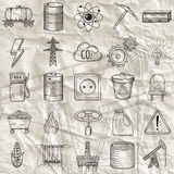 Set of industrial and ecology icons. Royalty Free Stock Image