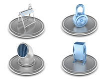 Set of industrial icons Royalty Free Stock Photos