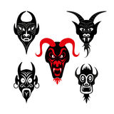 Set of infernal characters for the holiday of Halloween Stock Images