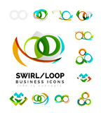 Set of infinity concepts, loop logo designs Royalty Free Stock Photo