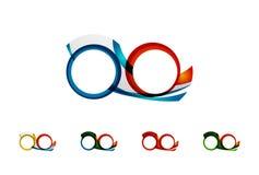 Set of infinity concepts, loop logo designs Stock Photos