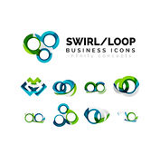 Set of infinity concepts, loop logo designs Stock Photography