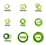 Set of infinity and loop business logos Royalty Free Stock Photos