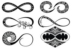 Set of Infinity love, forever symbols Royalty Free Stock Photography
