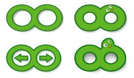 Set infinity symbol Stock Photo