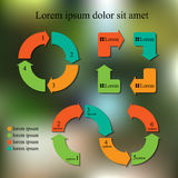 Set of info-graphic design template. business concept. abstract Royalty Free Stock Photo