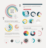 Set of info-graphic pie charts Stock Images