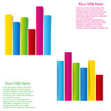 Set of info graphic statistic graph flat style Royalty Free Stock Image