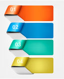 Set of info graphics banners with numbers Stock Photo