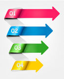 Set of info graphics banners with numbers Royalty Free Stock Images