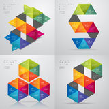 Set  infographic design is form hexagon pattern. Royalty Free Stock Images