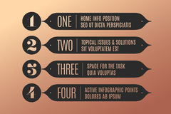 Set of infographic design, vintage arrows, banners, numbers and text Royalty Free Stock Photos