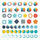 Set of infographic diagram elements for design Stock Photography