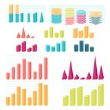 Set of infographic diagram elements for design Royalty Free Stock Photo