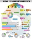 Set Infographic Elemente Stockfotos