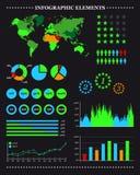 Set infographic Elemente Stockfoto