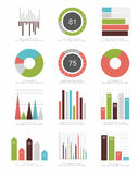 Set Infographic Elemente Stockfotografie