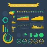 Set Infographic Elemente Lizenzfreies Stockbild