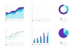 Set Infographic Elemente Geschäft Lizenzfreies Stockbild